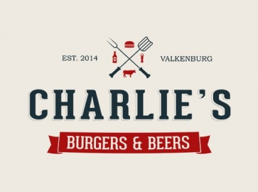 Charlies burgers beers logo branding marketing
