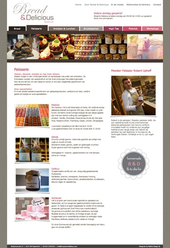 Bread and delicious website patisserie