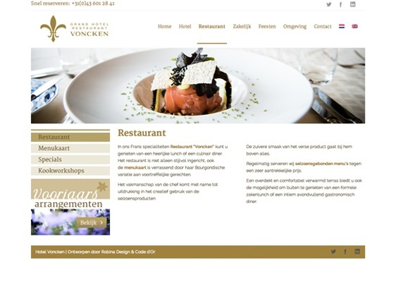 hotel voncken website restaurant