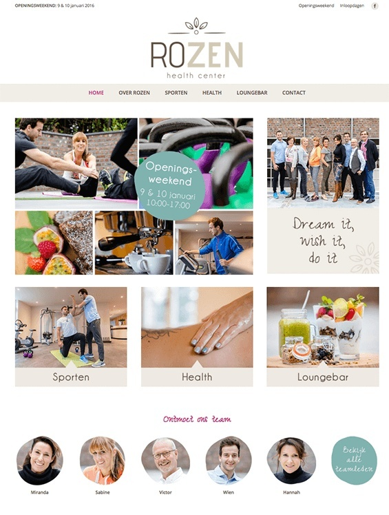 robina design webdesign rozen health center