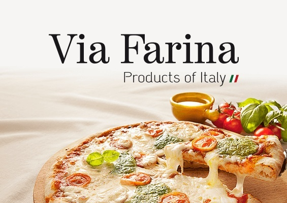 via farina pizza branding logo